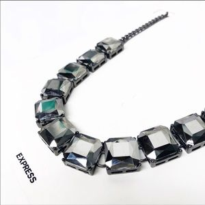 Express NWT  gunmetal statement necklace  go bold